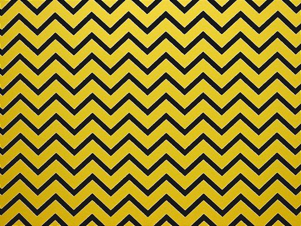 Decor Chevron Yellow - Preto