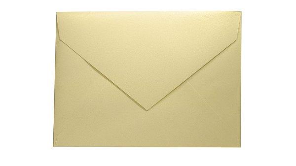 Envelopes 165 x 225 mm - Metallics White Gold c/ 50 unidades