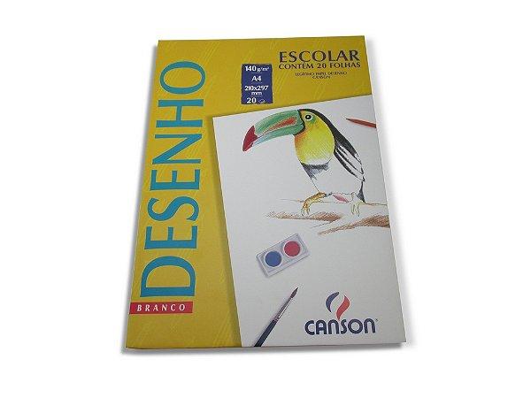 Papel para desenho Canson Branco A4 com 20 folhas