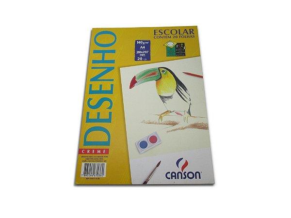 Papel para desenho Canson Creme A4 com 20 unidades