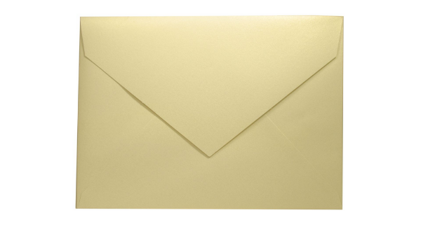Envelopes convite Metallics White Gold com 50 unidades