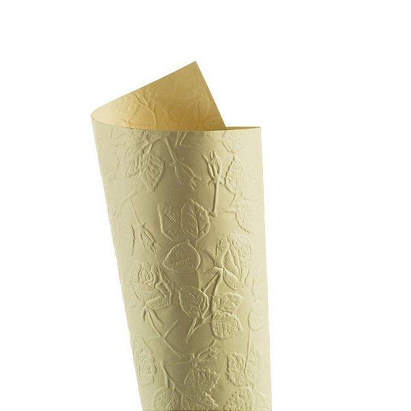 Papel Tx Max Rosas Marfim 30,5x30,5cm com 5 unidades
