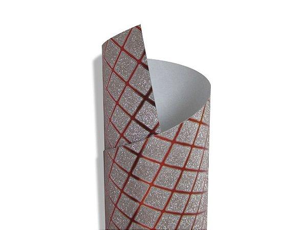 Papel Cryogen Square Red 30,5x30,5cm com 2 unidades