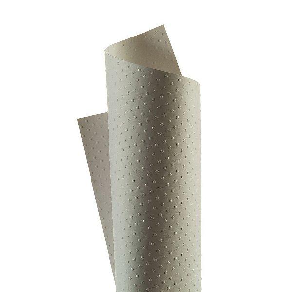 Papel Tx Realce Bolinhas Branco 30,5x30,5cm com 5 unidades