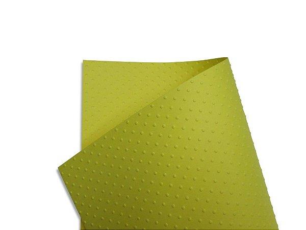 Papel Tx Realce Bolinhas Canário 30,5x30,5cm com 5 unidades
