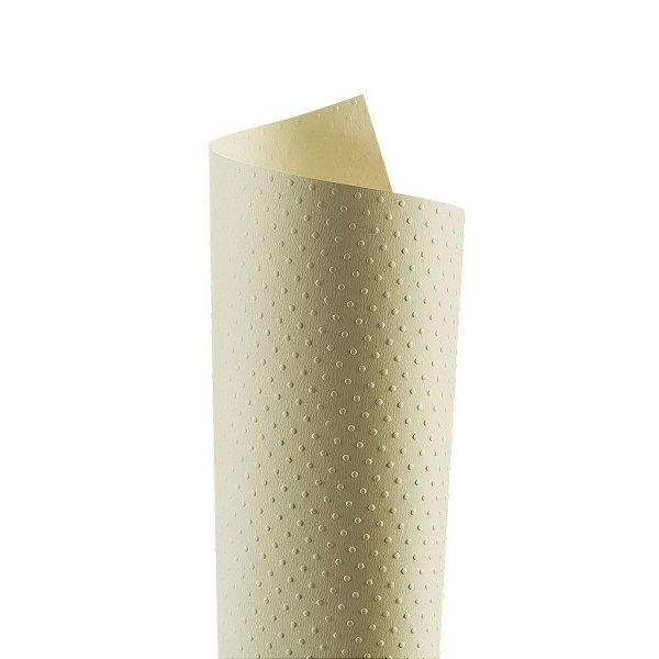 Papel Tx Realce Bolinhas Creme 30,5x30,5cm com 5 unidades