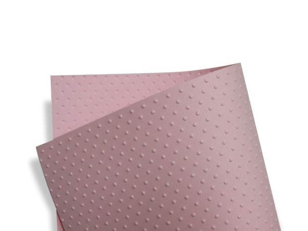 Papel Tx Realce Bolinhas Rosa Verona 30,5x30,5cm com 5 unidades