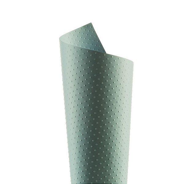 Papel Tx Realce Bolinhas Azul Santorini 30,5x30,5cm com 5 unidades