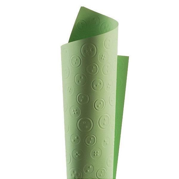 Papel Tx Realce Botões Verde 30,5x30,5cm com 5 unidades