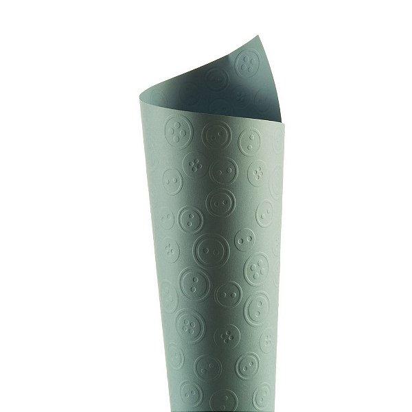 Papel Tx Realce Botões Azul Santorini 30,5x30,5cm com 5 unidades