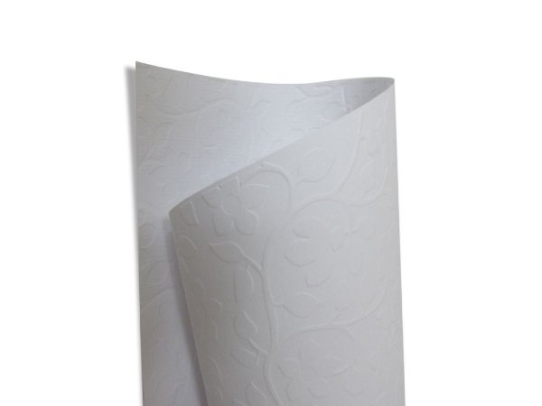 Papel Tx Realce Floral Branco 30,5x30,5cm com 5 unidades