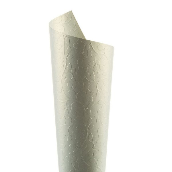 Papel Tx Realce Floral Ice Gold 30,5x30,5cm com 2 unidades