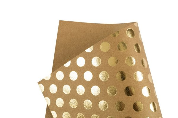 Papel Hot Decor Bolinhas Kraft 30,5x30,5cm com 2 unidades