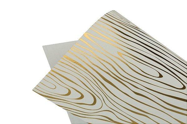 Papel Hot Decor Madeira Branco 30,5x30,5cm com 2 unidades