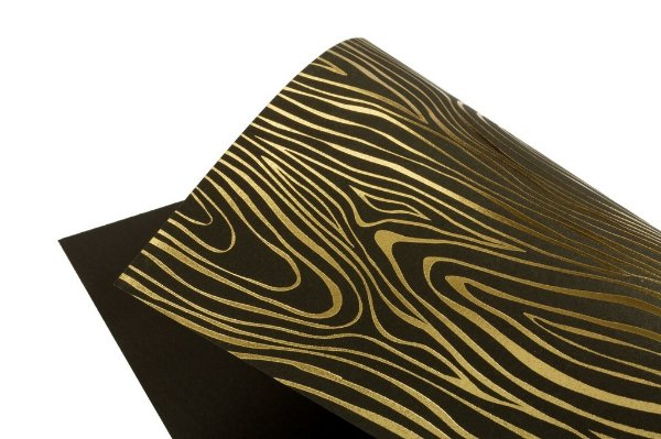 Papel Hot Decor Madeira Preto 30,5x30,5cm com 2 unidades