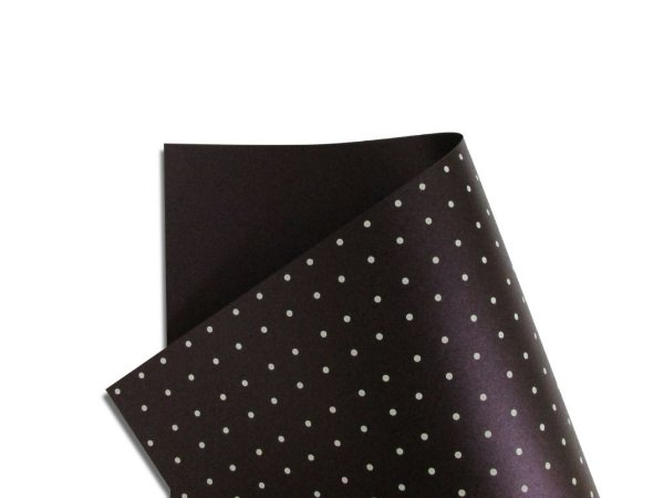 Papel Relux Decor Bolinhas Shiraz - Branco 30,5x30,5cm com 5 unidades