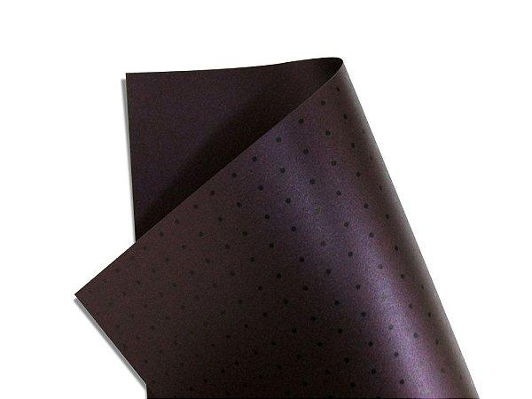 Papel Relux Decor Bolinhas Shiraz - Preto 30,5x30,5cm com 5 unidades