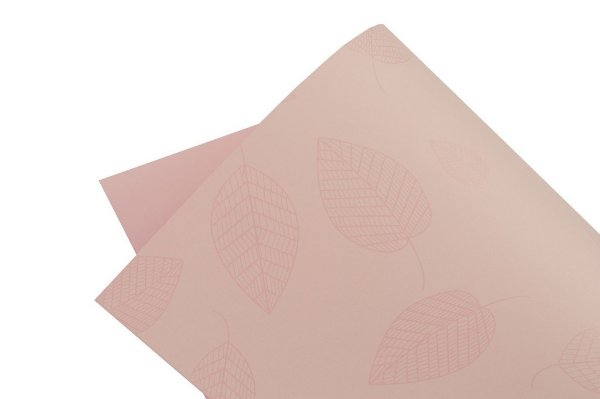 Papel Decor Folhas Rosa Verona - Incolor 30,5x30,5cm com 5 unidades