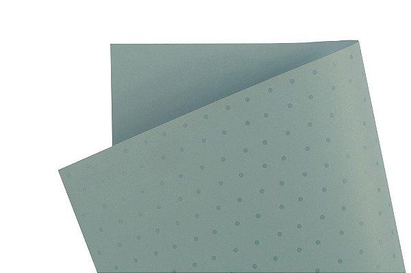 Papel Decor Bolinhas Azul Santorini - Incolor 30,5x30,5cm com 5 unidades