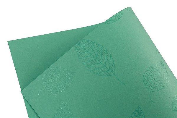 Papel Decor Folhas Aruba - Incolor 30,5x30,5cm com 5 unidades