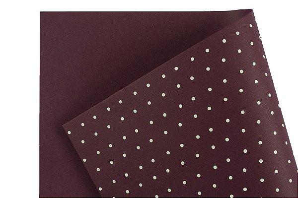 Papel Decor Bolinhas Mendoza - Branco 30,5x30,5cm com 5 unidades