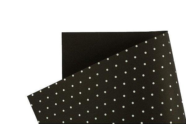 Papel Decor Bolinhas Preto - Branco 30,5x30,5cm com 5 unidades