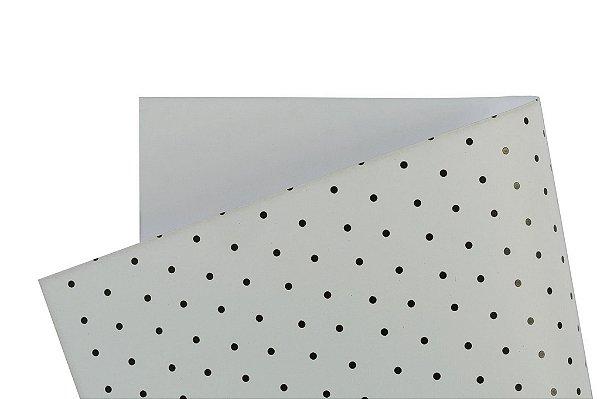Papel Decor Bolinhas Branco - Preto 30,5x30,5cm com 5 unidades