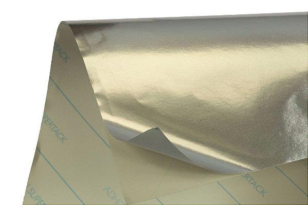 Papel Adesivo Prata Brilho 30,5x30,5cm com 5 unidades