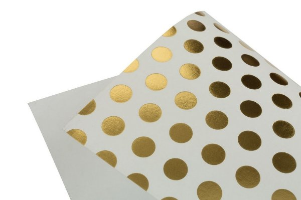 Papel Hot Decor Bolinhas Branco 30,5x30,5cm com 2 unidades