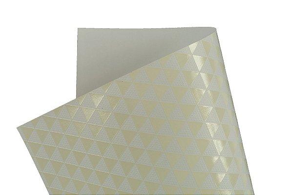 Papel SuperInk Milk Triângulo 30,5x30,5cm com 2 unidades