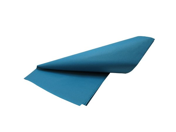 Papel de SEDA Azul formato 50x70cm para presente com 3 unidades