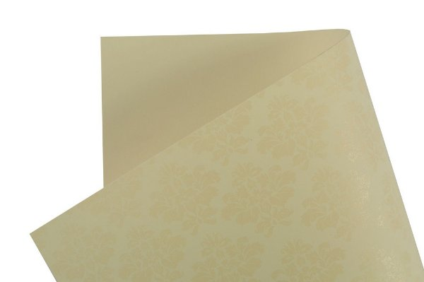 Papel Decor Arabesco Creme - Incolor 30,5x30,5cm com 5 unidades