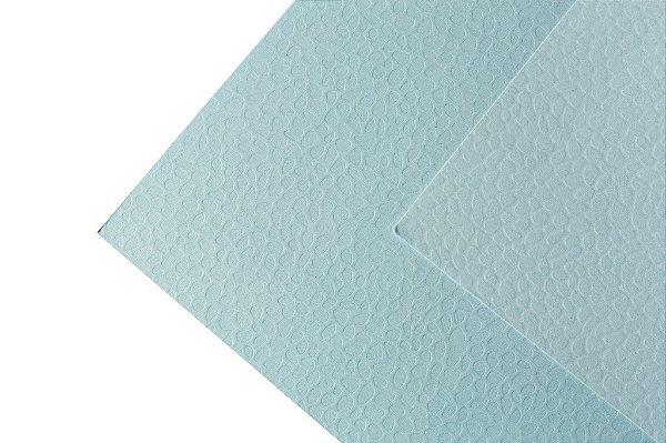 Papel Texture TX Leaves Água Marinha 30,5x30,5cm com 5 unidades