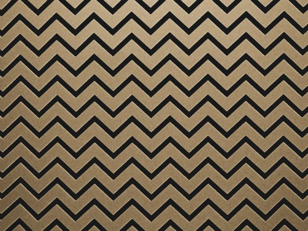Papel Decor Chevron Kraft - Preto 30,5x30,5cm com 5 unidades