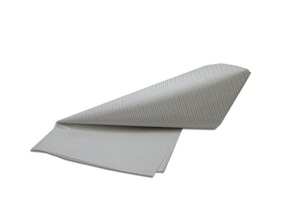 Papel de SEDA Listras Prata formato 50x70cm para presente com 3 unidades