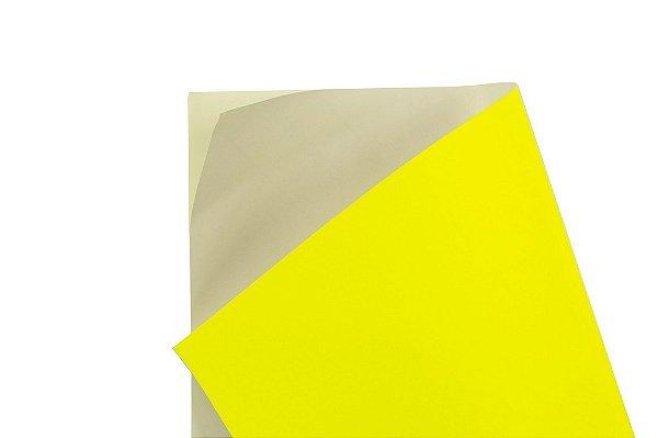 Papel Adesivo Fluor Yellow 30,5x30,5cm com 5 unidades