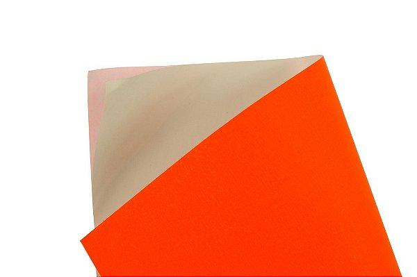 Papel Adesivo Fluor Red 30,5x30,5cm com 5 unidades
