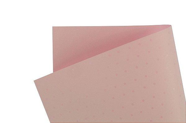 Papel Decor Bolinhas Rosa Verona - Incolor 30,5x30,5cm com 5 unidades