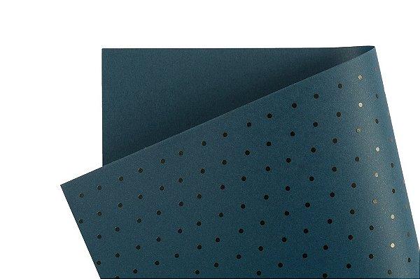 Papel Decor Bolinhas Porto Seguro - Preto 30,5x30,5cm com 5 unidades