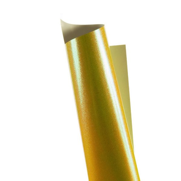 Papel Carnival Amarelo 30,5x30,5cm com 5 unidades