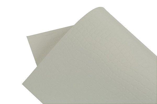 Papel Texture TX Croco Branco 30,5x30,5cm com 10 unidades