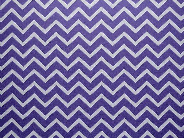 Papel Decor Chevron Violet - Branco 30,5x30,5cm com 5 unidades