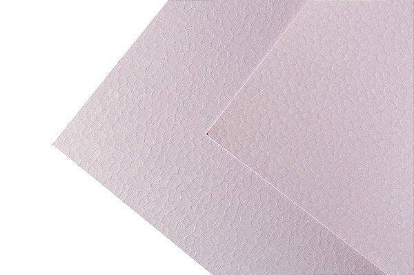 Papel Texture TX Leaves Quartzo Rosa 30,5x30,5cm com 5 unidades