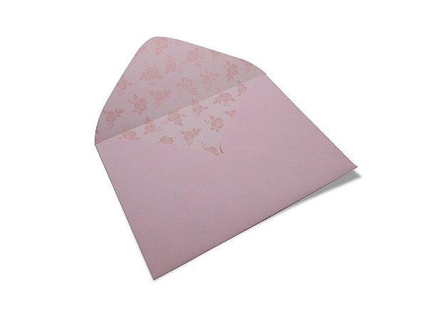 Envelopes carta Rosa Verona Decor Rosas Incolor - Lado Interno com 10 unidades