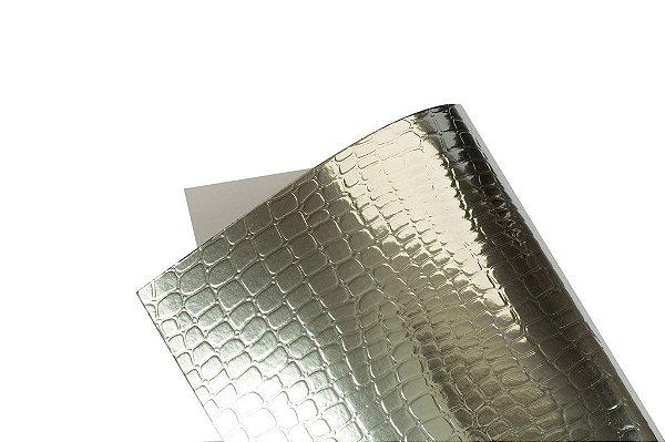 Papel Texture TX Croco Prata A4 com 10 unidades