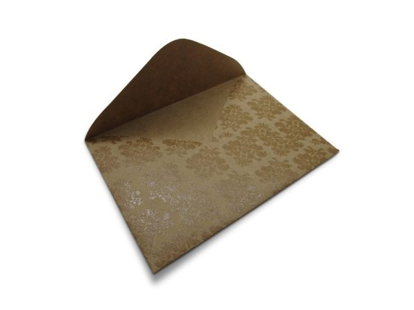 Envelopes carta Kraft Decor Arabesco Incolor - Lado Externo com 10 unidades