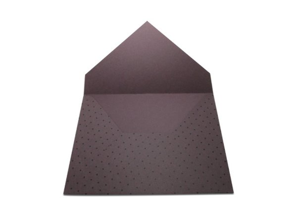 Envelopes convite Mendoza Decor Bolinhas Pretas - Lado Externo com 10 unidades