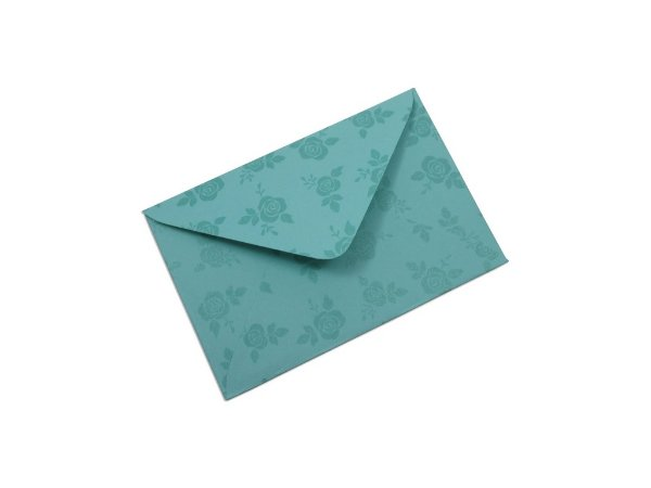 Envelopes visita Aruba Decor Rosas Incolor - Lado Externo com 10 unidades