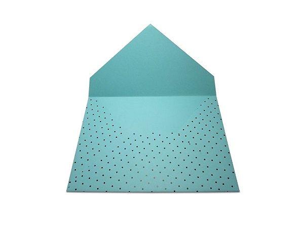 Envelopes convite Aruba Decor Bolinhas Pretas - Lado Externo com 10 unidades