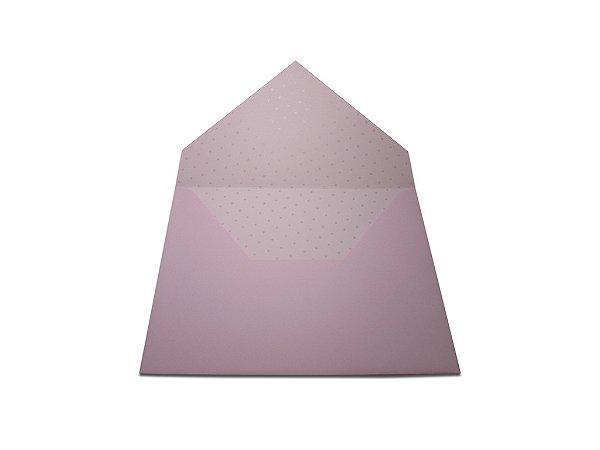 Envelopes convite Rosa Verona Decor Bolinhas Incolor - Lado Interno com 10 unidades